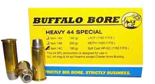 Buffalo Bore Handgun 44 Special Soft Cast Hollow Point 190 gr, 20Box/12Cas