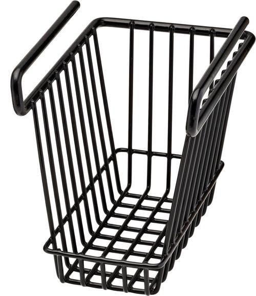Snap Safe Hanging Shelf Basket Vault Organizer Black Small