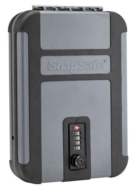 "Snap Safe Lockbox Security Safe Black/Gray 10"" x 7"" x 2"" TSA Combination"