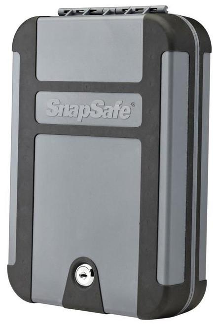 "Snap Safe Lockbox Security Safe Black/Gray 10"" x 7"" x 2"" Keylock"