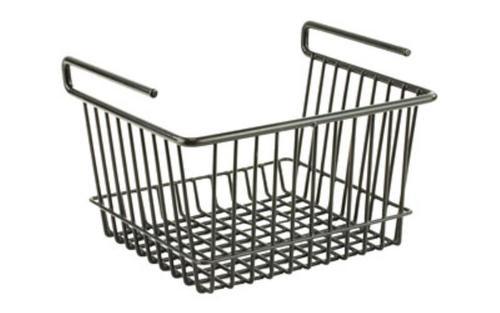 Snap Safe Hanging Shelf Basket Vault Organizer Black Large