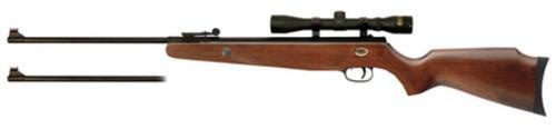 Beeman Grizzly X2 Air Rifle Break Open Gas Ram .177/.22 Black, Scope