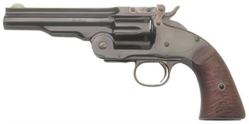 """Cimarron Firearms Model 3 Schofield, .38 Special, 5"""", Blued, Walnut Grip, 6rd"""