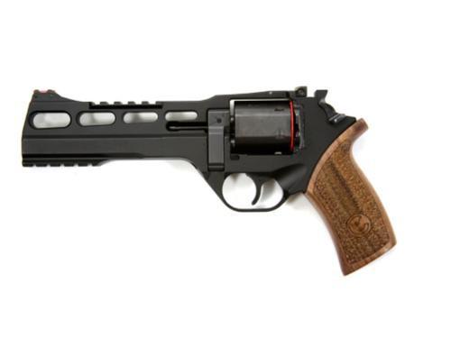 "Chiappa Rhino 60DS, .40 S&W, 6"", 6rd, Black, Wood Grips, Adj. Sights"