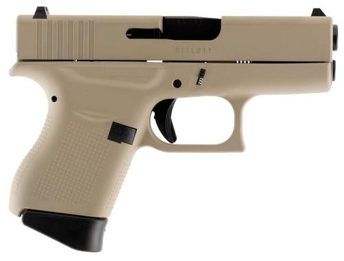 "Glock G43 Subcompact, 9mm, 3.39"", 6rd, Desert Tan Finish"