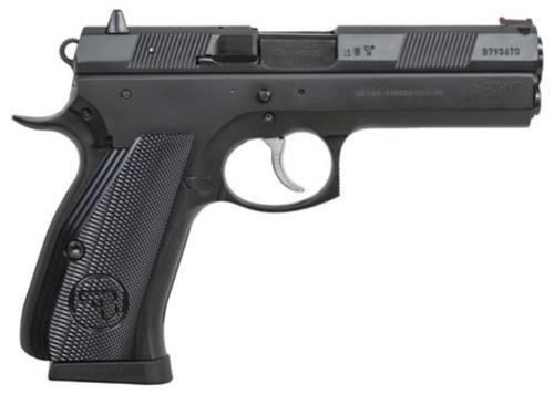"""CZ 97 B, 45 ACP, 4.8"""" Barrel, 10rd Mag, Aluminum Grip, Black"""