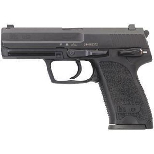 """HK USP9 9mm, 4.25"""" Barrel, 15rd Mag, DA/SA, Fixed Sights, Black"""
