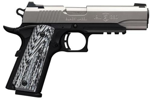 "Browning 1911-380 Black Label Pro Compact, .380 ACP, 3.62"", 8rd, Black G10 Grips"