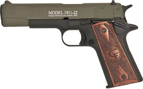 "Chiappa Firearms 1911, 22LR, 5"", 10rd, OD Green Slide Finish"