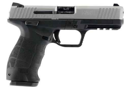 "SAR USA SAR9 9mm, 4.5"" Barrel, 17rd, Stainless Steel Slide, Black Polymer Frame"