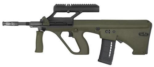 "Steyr AUG A3 M1, .223/5.56, 16"", 30rd, 3X Optic, OD Green Stock, Black"