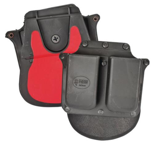 Fobus Double Mag Pouch Paddle, Single Stack 45 ACP, Black