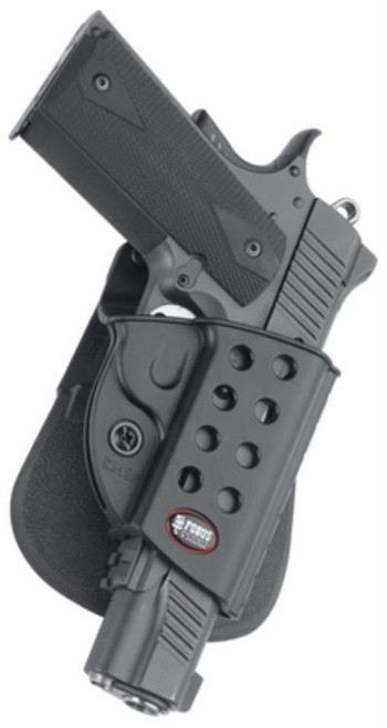 Fobus E2 Paddle Holster, Fits 1911 Style With Rails, Right Hand, Kydex, Black