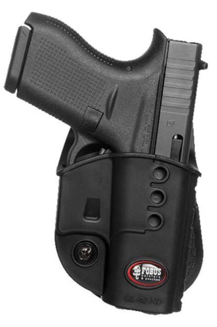 Fobus Evolution Paddle Holster Glock 42 Left Hand Polymer Adjustable
