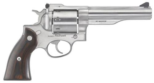 "Ruger Redhawk .357 Mag/38 Spec 5.5"" Barrel Hardwood Grips Satin SS Finish 8rd"