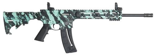 Smith & Wesson M&P1522 Sport 22LR ROBINS EGG BLUE PLAT 25rd Mag