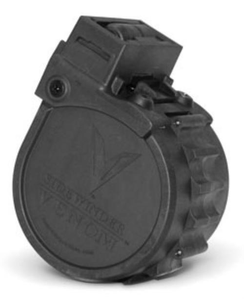 Adaptive Tactical Sidewinder Venom, Rotary Drum Magazine, Black, 10rd