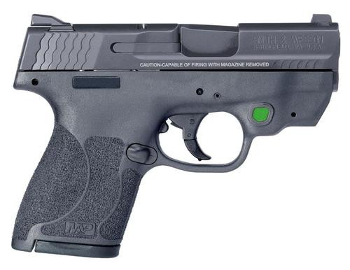 """Smith & Wesson M&P Shield 9mm, 3.1"""", MTS 2.0, CT Green 7/8rd Mags"""