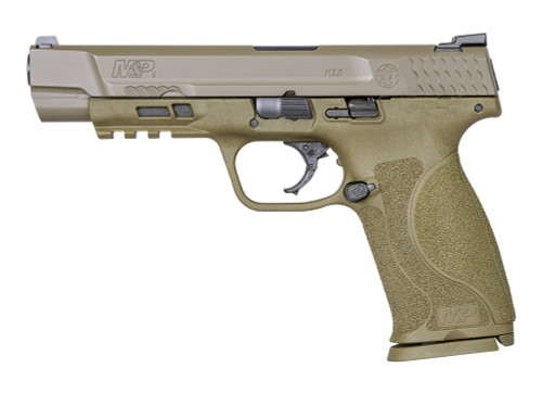 "Smith & Wesson M&P9 M2.0 9mm, 5"" Barrel, 3-Dot Sights, NTS, Flat Dark Earth, 17rd"