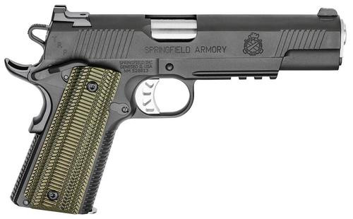 "Springfield TRP 1911, Full Size 10 MM, 5"" Match Grade Barrel G10 Grips Ambi, Tritium Night Sights, Range Bag 7rd Mag"