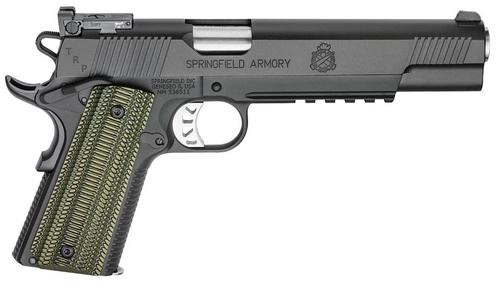 "Springfield TRP 1911, Long Slide 10 MM 6"" Barrel G10 Grips, Ambi, Night Sights, Range Bag 7rd Mag"
