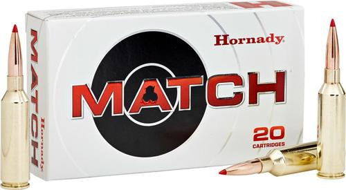 Hornady Match Rifle Ammunition 6.5mm PRC 147gr, ELD Match 20rd Bax