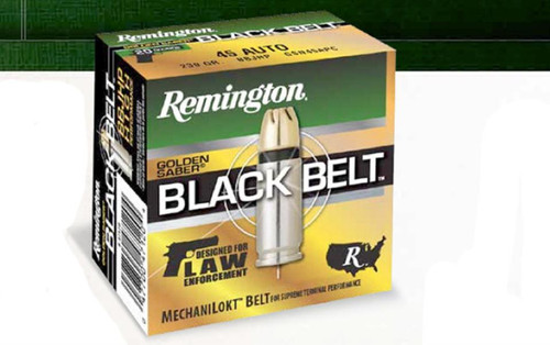Remington Golden Saber Black Belt 9mm +P 124gr, Jacketed Hollow Point, 20rd Box