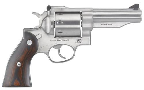 "Ruger Redhawk .357 Mag, 4.2"", 8rd, Satin Stainless Steel, Hardwood Grips"