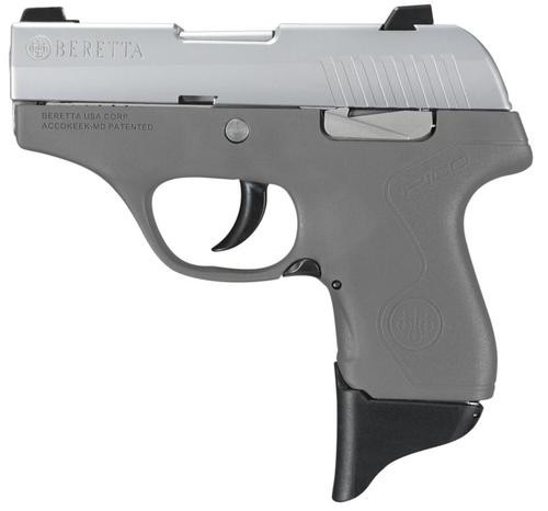 "Beretta Pico .380 ACP, 2.7"" Barrel, Fixed Sights, INOX Finish/Grey Polymer Frame"