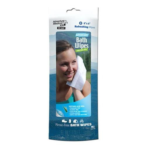 "Adventure Medical Kits Adventure Bath Wipes 8ct 8x8"" White"