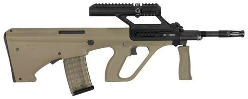 """Steyr AUG A3 M1, .223/5.56, 16"""" Barrel, 30rd, 3X Optic, Tan Synthetic Stock"""