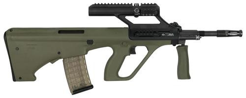 """Steyr AUG A3 M1, .223/5.56, 16"""" Barrel, 30rd, 1.5X Optic, Green Synthetic Stock"""