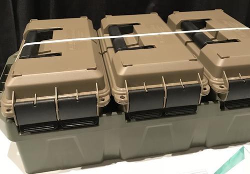 MTM 3-Can Ammo Crate .50 Caliber Dark Earth/Army Green