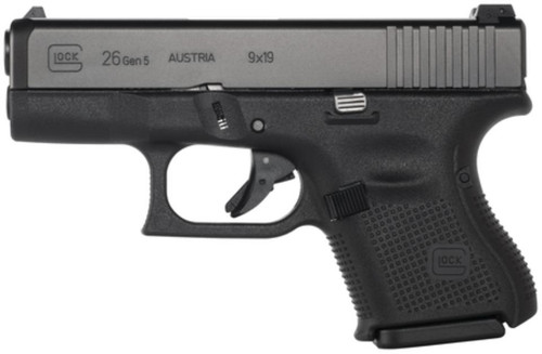 Glock G26 Gen5 9mm Fixed Sights 10rd Mag