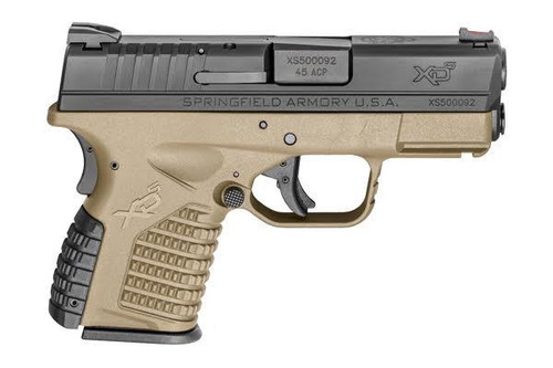 "Springfield XDS 45 ACP, 3.3"" Barrel Flat Dark Earth Finish, Fiber Optic Front Sight, 6Rd Mag"
