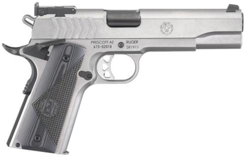 """Ruger SR1911 Target 9mm 5"""" Barrel Adjustable Sights Checkered G-10 Grips 9rd Mag"""