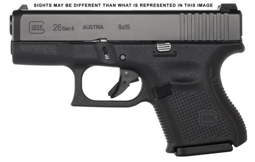 Glock G26 Gen5 9mm AMERIGLO Night Sights 10rd Mag