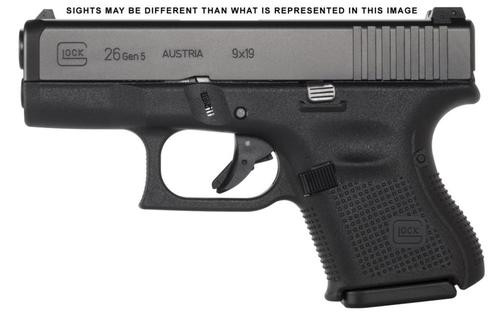 Glock G26 Gen5 9mm Glock Night Sights 10rd Mag