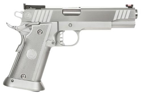 "Metro Arms 3011 SSD, .40 S&W, 5"", 15rd, Aluminum Grip, Chrome Finish"