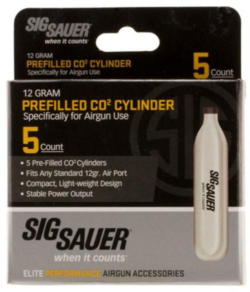 Sig Airguns CO2 Cylinders 12 gram 5 Per Pack
