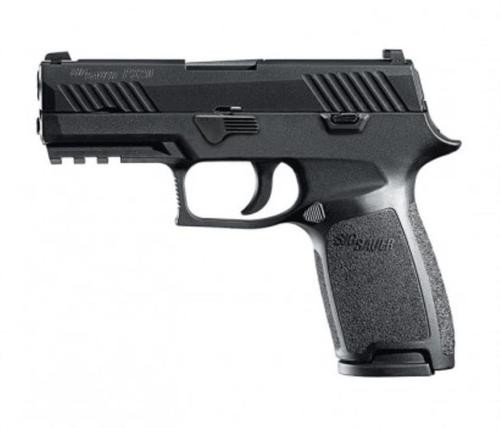 "Sig P320 Nitron Carry Double 9mm, 3.9"", Black Grip, Black Nitron Stainless, 10rd"