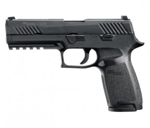 "Sig P320 Nitron Full Size Double 9mm, 4.7"", Black Grip, Black Nitron Stainless, 10rd"