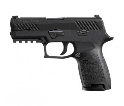 "Sig P320 Nitron Compact 9mm, 3.9"",Black Grip, Nitron Stainless, 10rd"