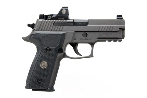 "Sig P229 Legion 9mm, 3.9"", Gray, DA/SA, X-Ray 3, Black G10 Grip, 3x10rd Steel Mags, Romeo1 Reflex Sight"