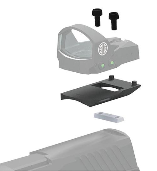 Sig Romeo1 Mounting Kit For Glock 1-Piece Style, Black