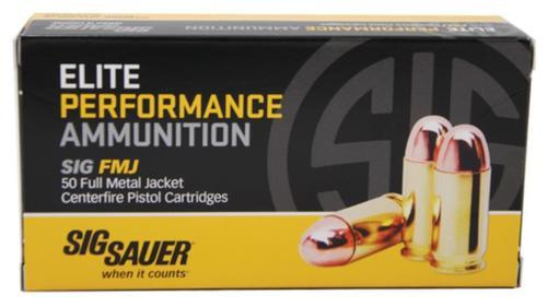 Sig Ammo Elite Performance .357 Sig 125gr, Full Metal Jacket 50rd Box
