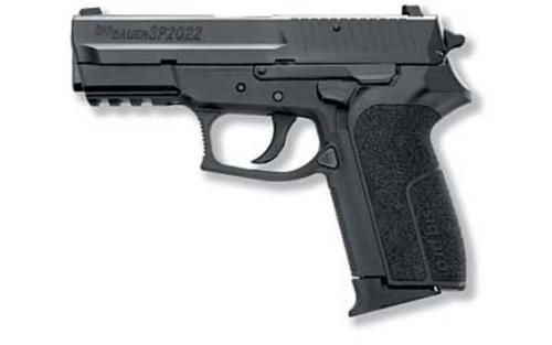 "Sig SigPro SP2022, Medium 9mm, 3.9"" Barrel, Polymer Frame, Black, Fixed Sights, 2x10d,Mags"