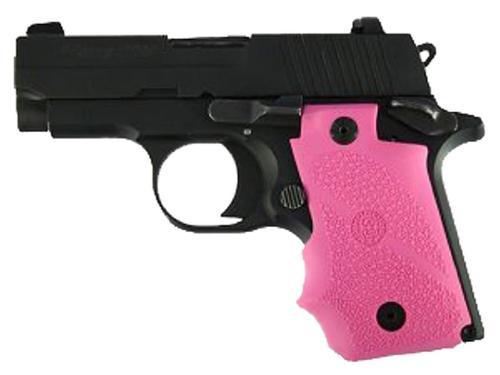Hogue Sig Sauer P938 Rubber Grip, Finger Grooves Pink