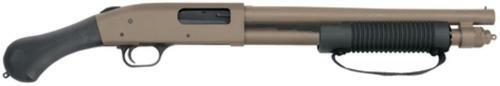 "Mossberg 590 Shockwave 12 Ga 14"" Barrel Flat Dark Earth Raptor Pistol Grip 6rd- No NFA Paperwork"