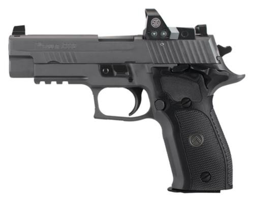 "Sig P226 Full Size Legion RX Red Dot9mm, 4.4"", Black G10 Grip, Gray PVD 10rd Mag"
